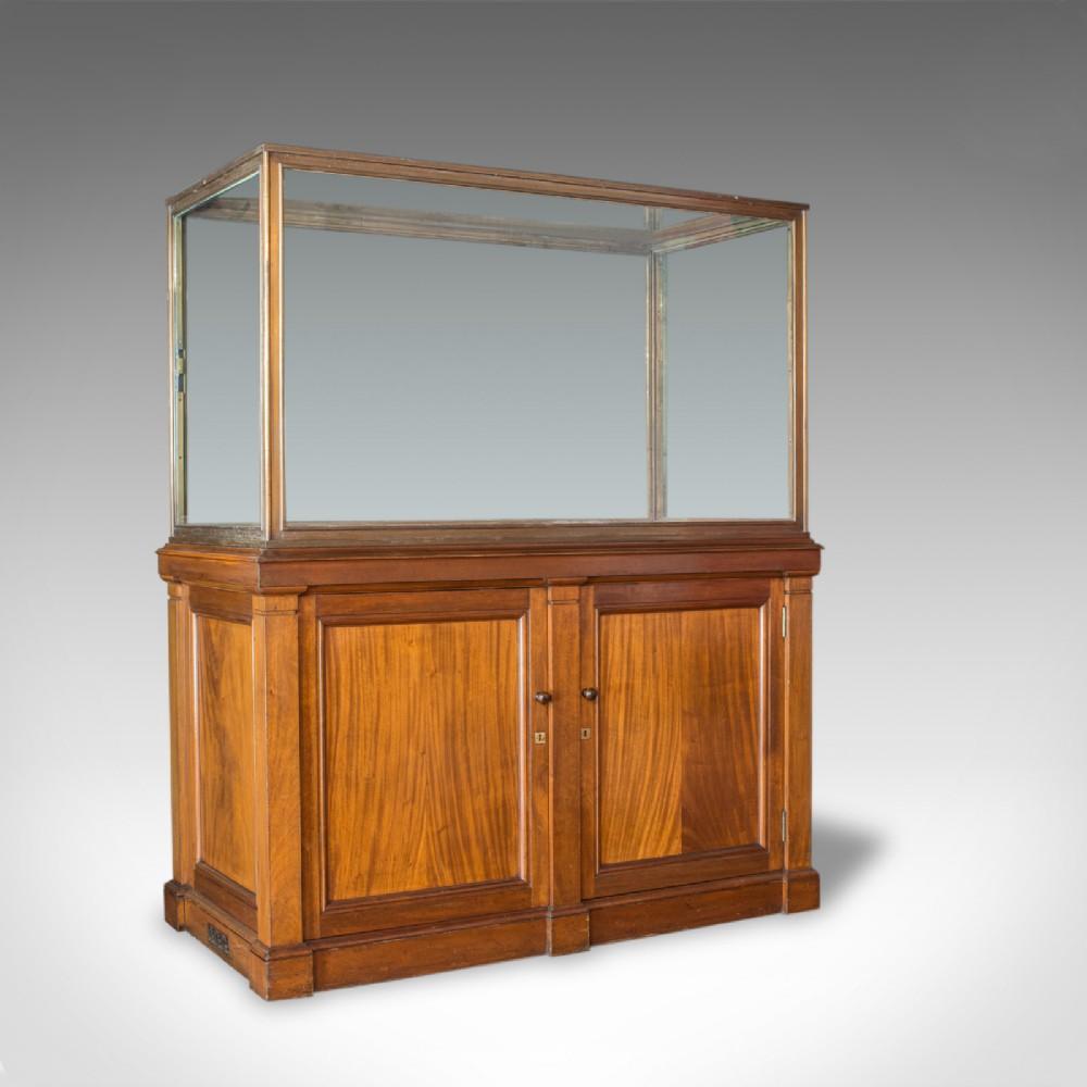 antique showcase cabinet english walnut bronze display museum circa 1900