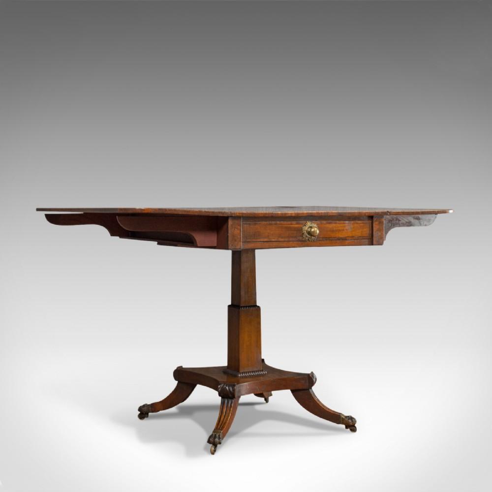 antique pembroke table english mahogany drop leaf occasional regency