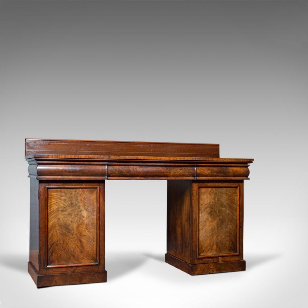 antique pedestal sideboard english mahogany flame dresser regency c1810