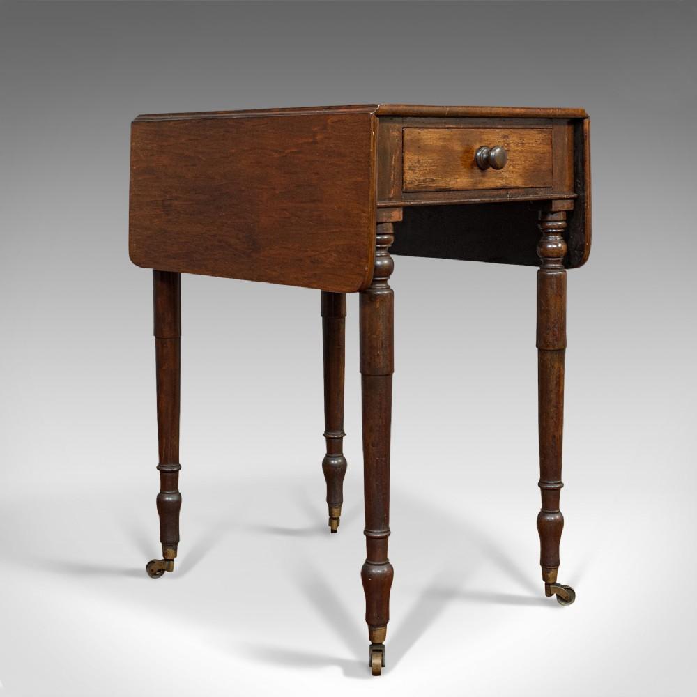 antique pembroke table english mahogany drop flap occasional regency