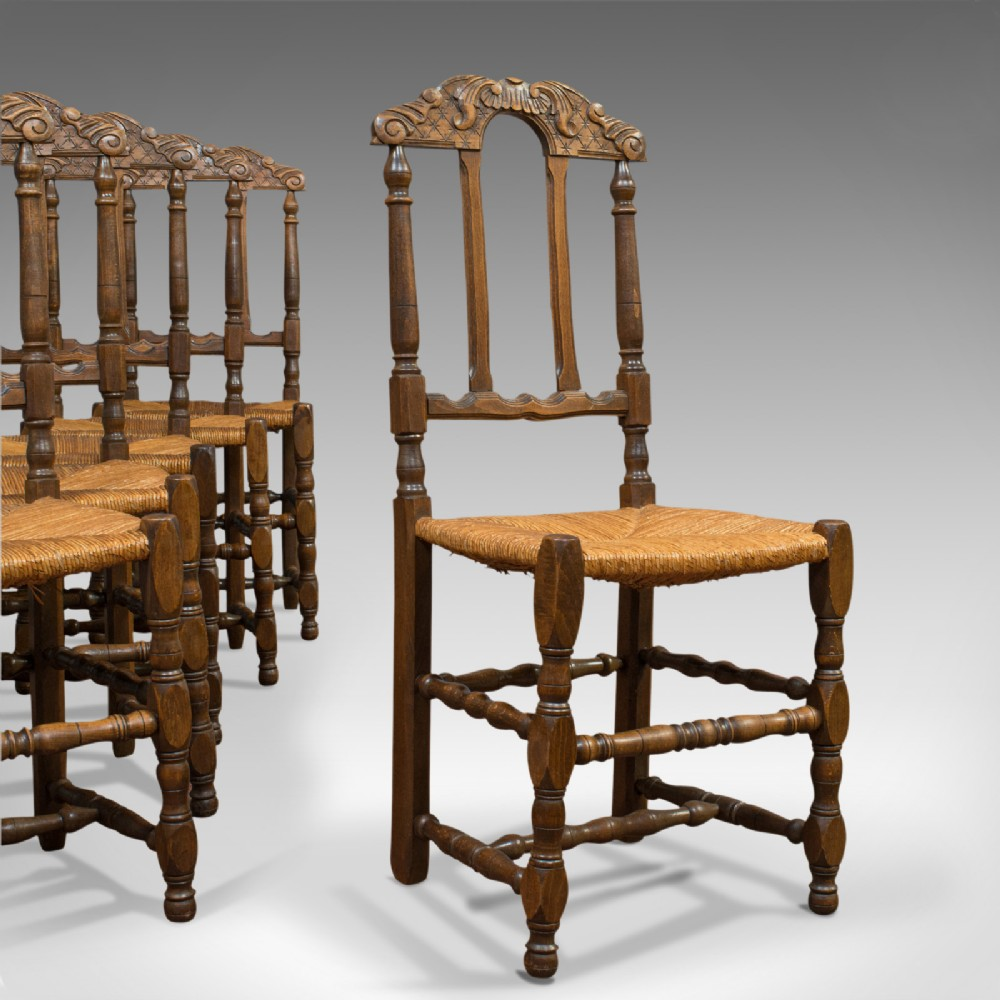 Set Of 6 Antique Dining Chairs French Beech Country Kitchen Suite Circa 1900 689461 Sellingantiques Co Uk