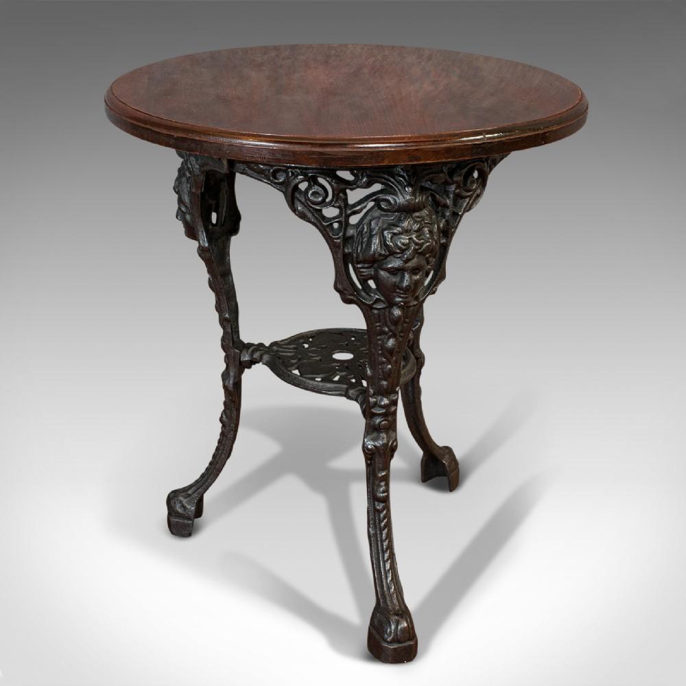 antique britannia table english cast iron beech outdoor garden circa 1900
