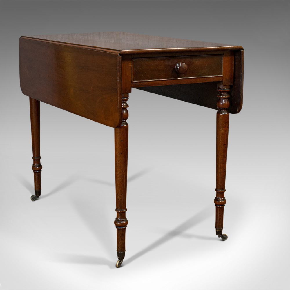 antique pembroke table english mahogany drop leaf side occasional regency