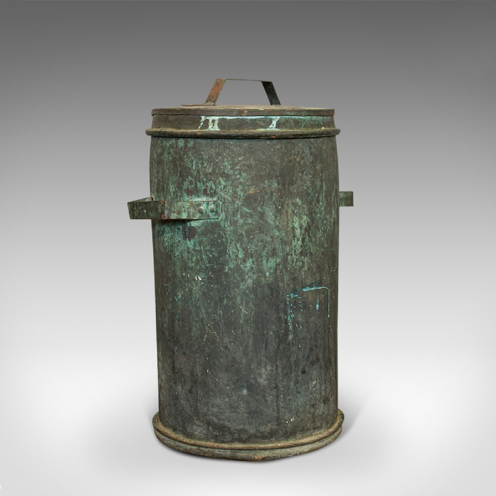 antique grain bin french copper farmhouse silo fireside victorian c1890
