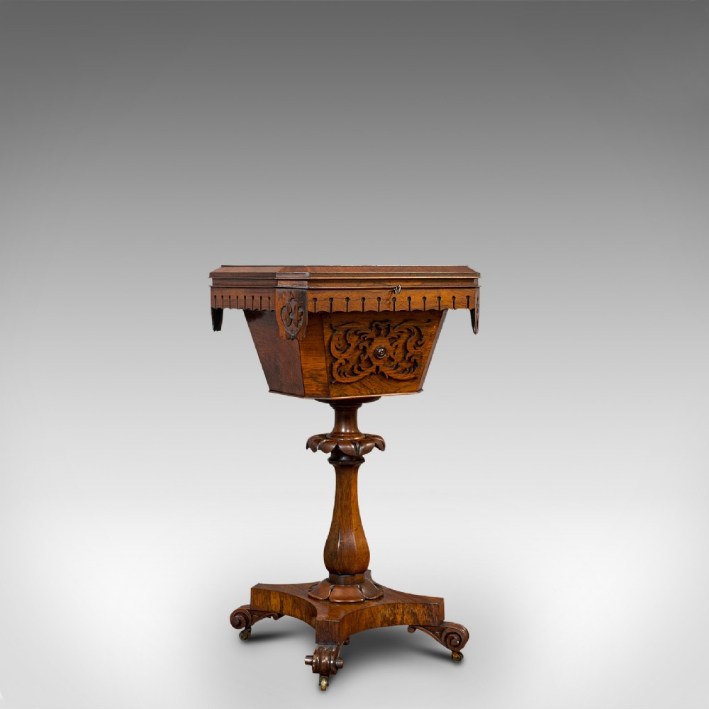 antique lady's work box english rosewood sewing table regency circa 1820