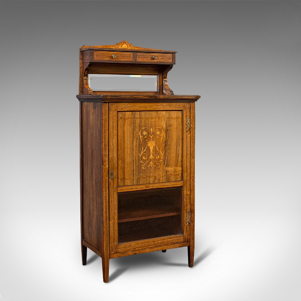 antique music cabinet english rosewood side hall stand edwardian c1910