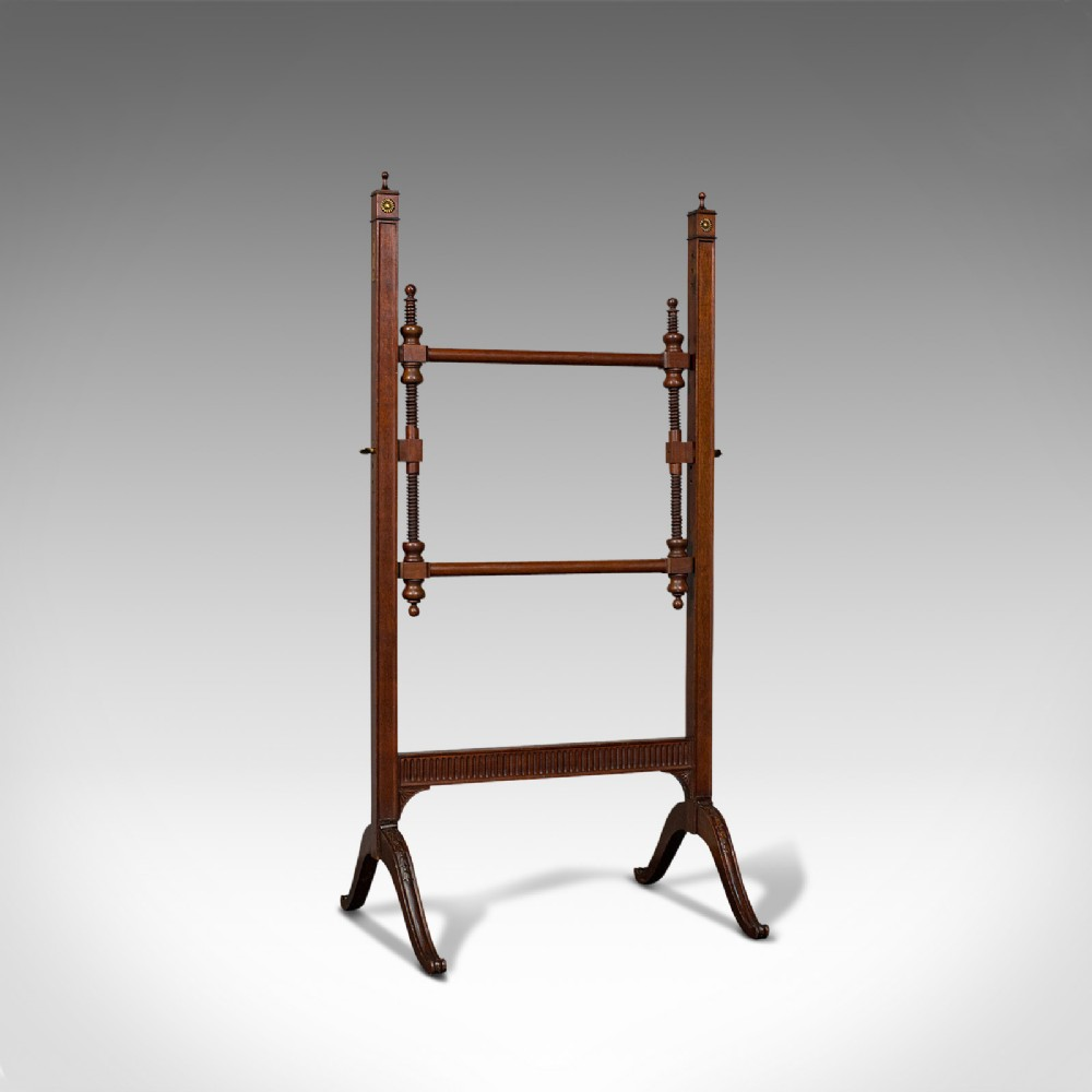 antique needlepoint stretcher english mahogany tapestry frame victorian