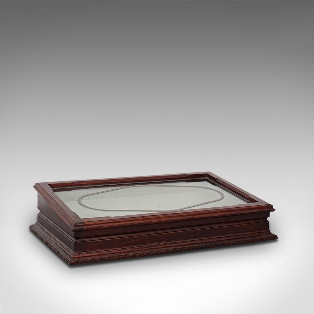 antique jeweller's display case english mahogany shopfitting cabinet 1910