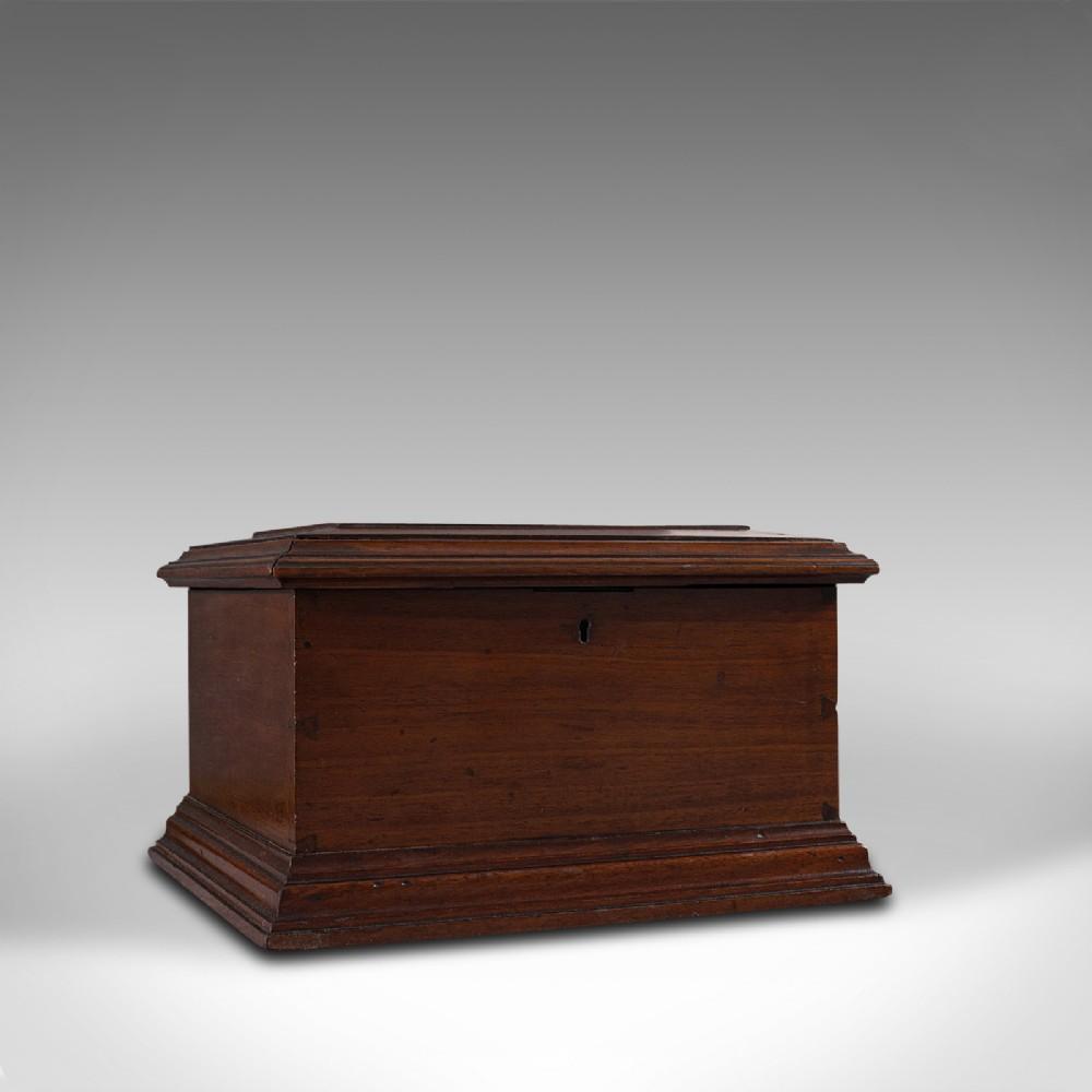 small antique document box english walnut desk pen sarcophagus victorian