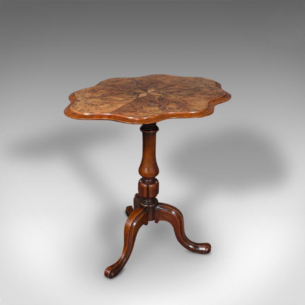 antique wine table mahogany burr walnut inlay side marquetry regency 1820