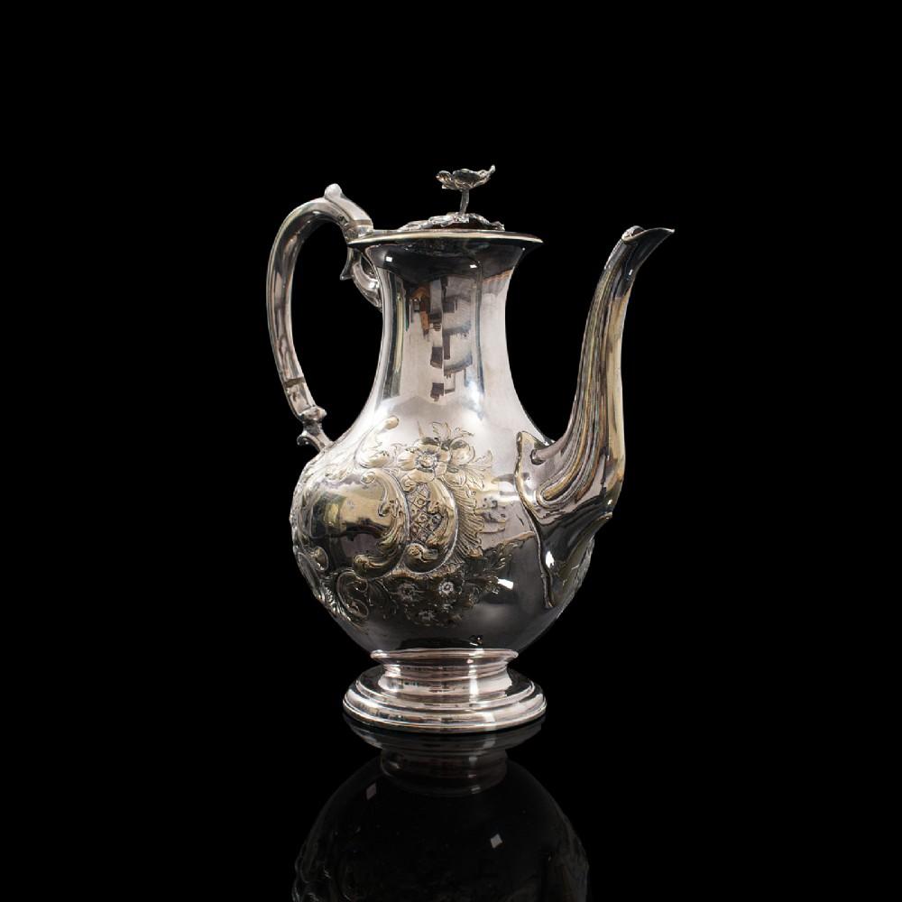antique decorative tea urn english silver plate teapot edwardian circa 1910