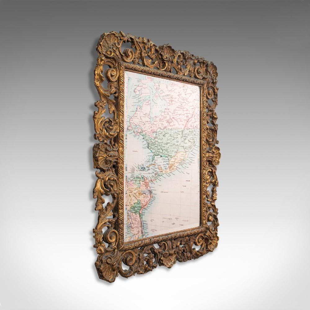 ornate antique mirror french giltwood hall overmantel edwardian circa 1910
