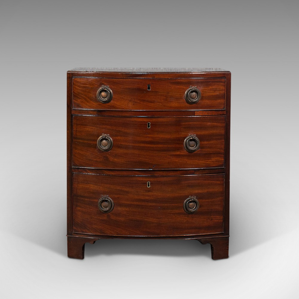 compact antique chest of drawers english mahogany bedside stand georgian