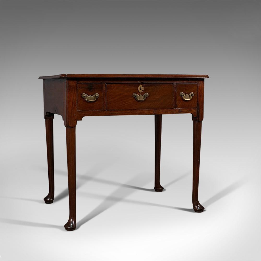 fine antique lowboy english mahogany side serving table georgian c1780