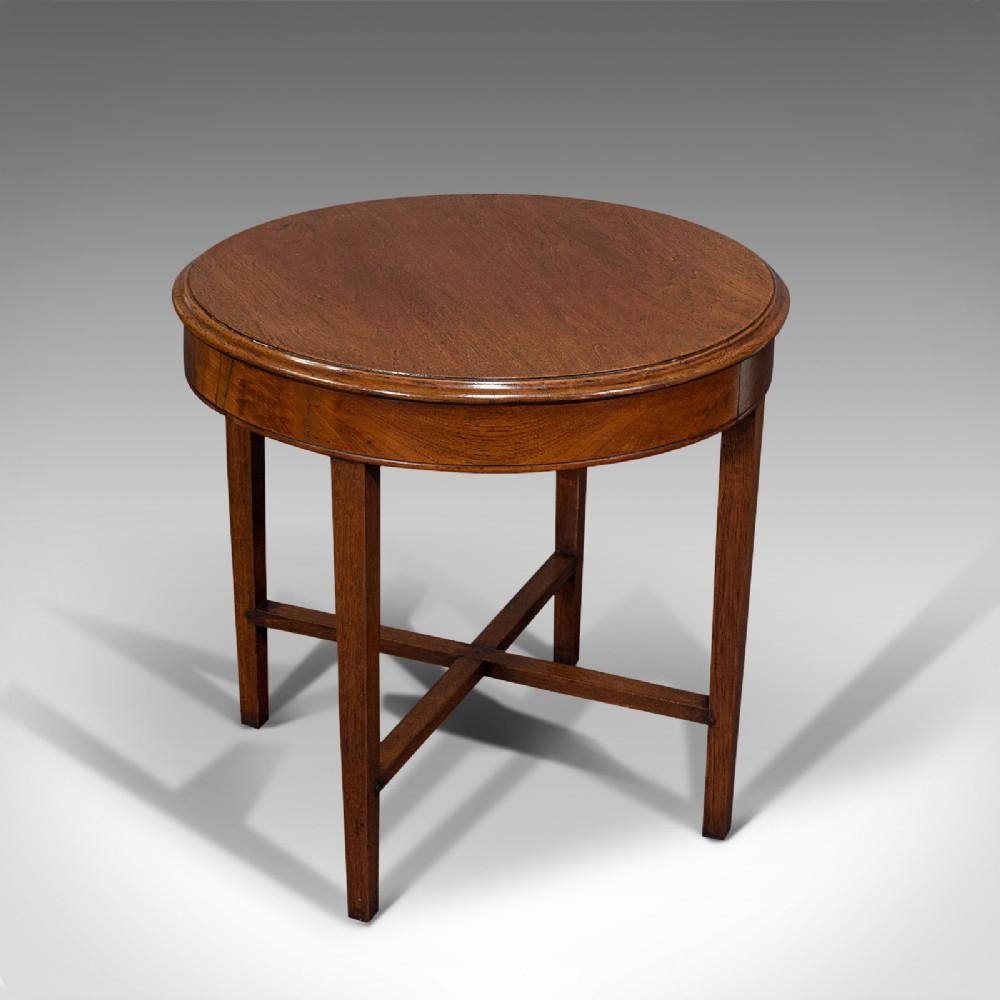 antique circular coffee table english oak lamp side victorian circa 1880
