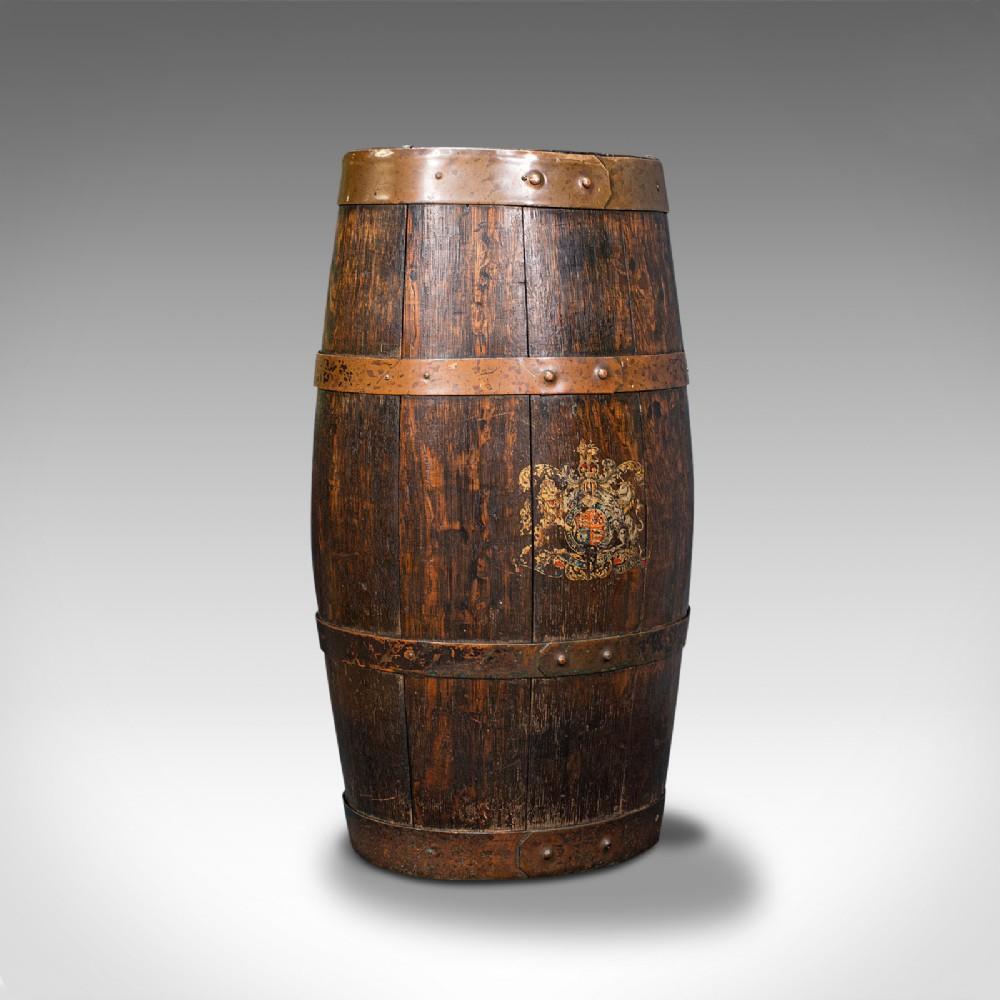 antique coopered barrel stick stand english oak hallway portico victorian