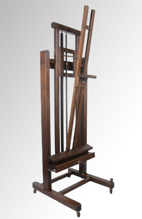 oak artist s fully adjustable studio easel 215834