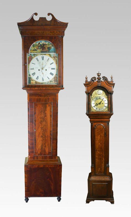 Miniature Oak Cased Grandfather Clock
