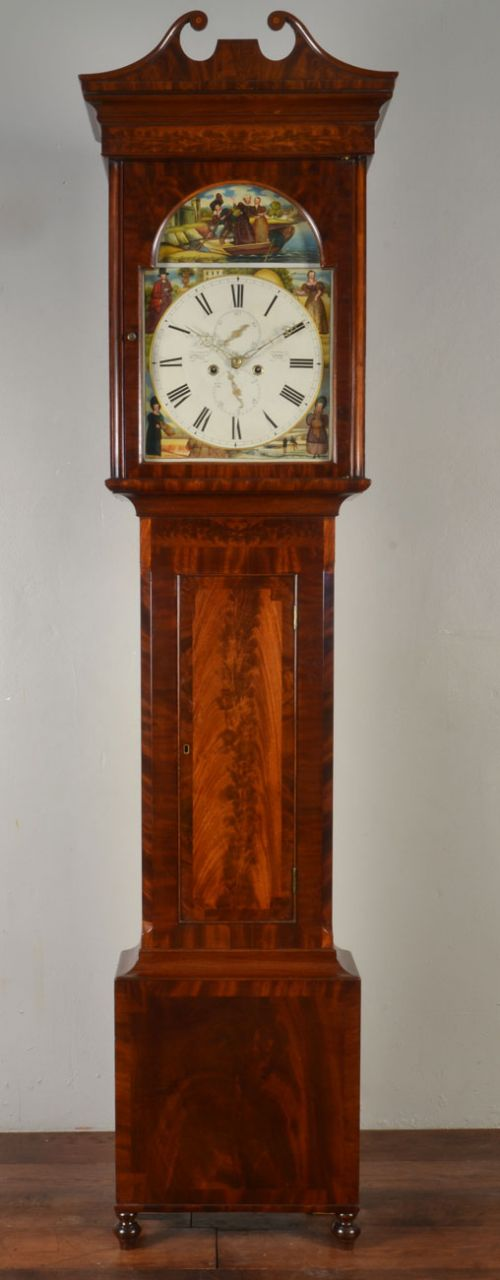 long case eight day clock w m smith of leith