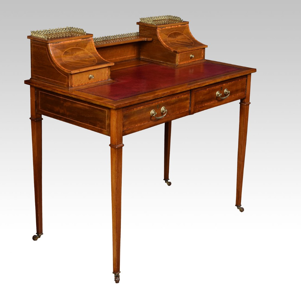 edwardian mahogany writing desk