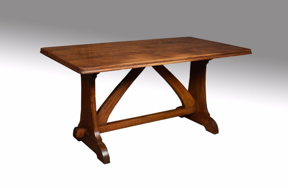 oak plank top refectory table