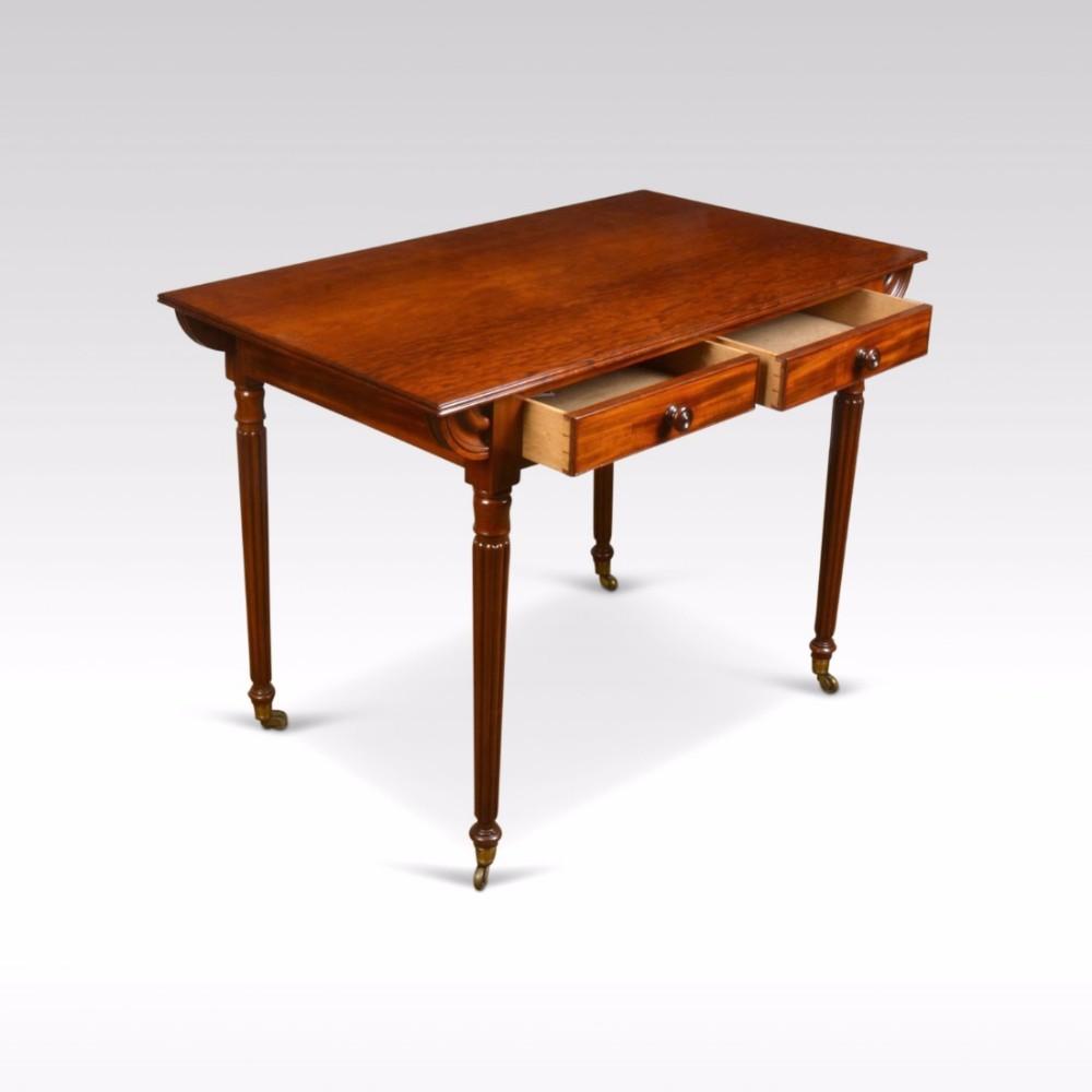 mahogany two draw writing table
