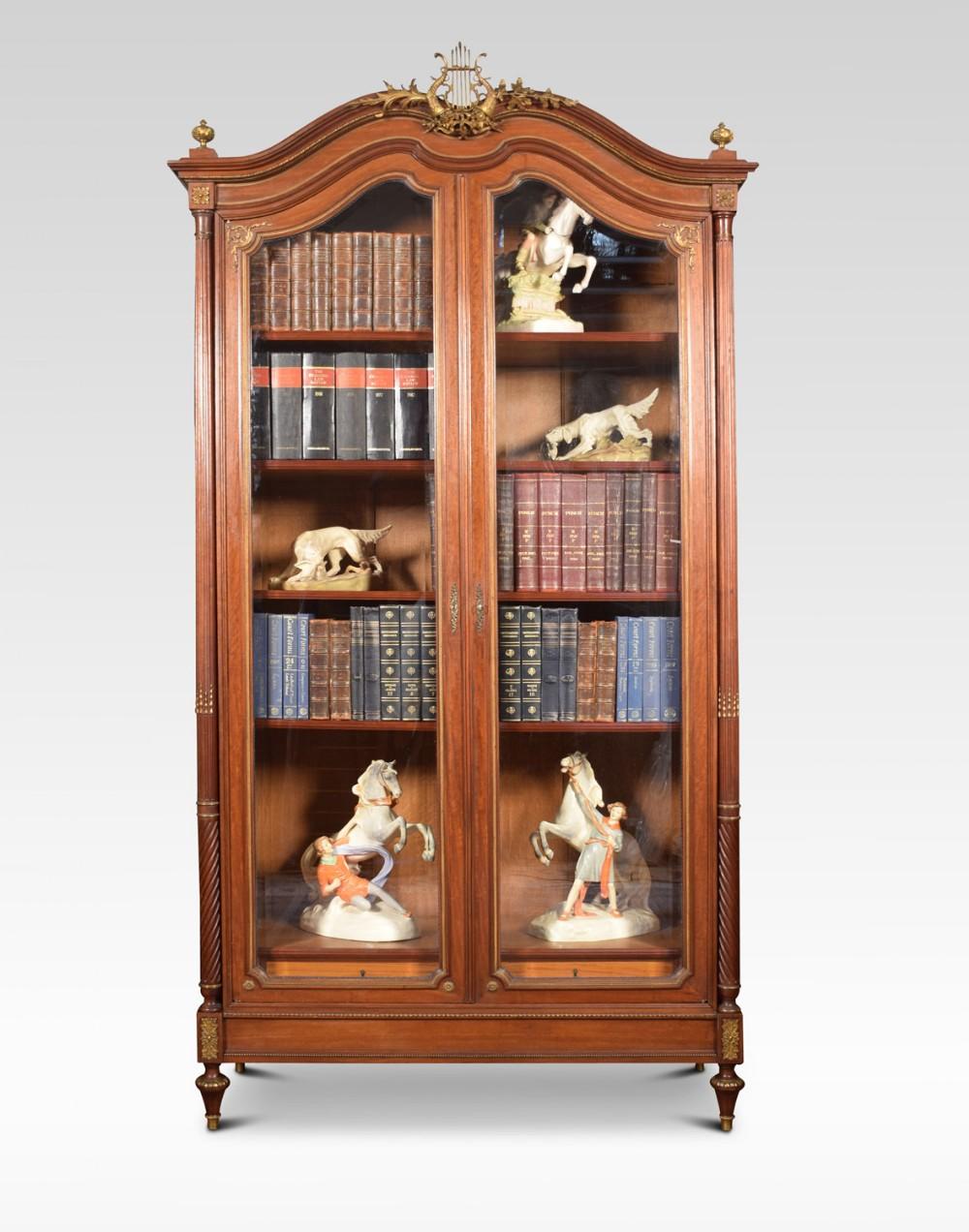 french gilt brass mounted mahogany bookcase