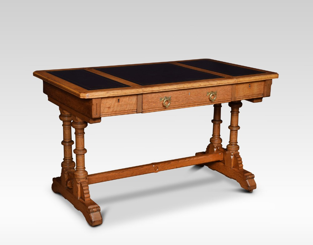 oak writing table by lamb of manchester