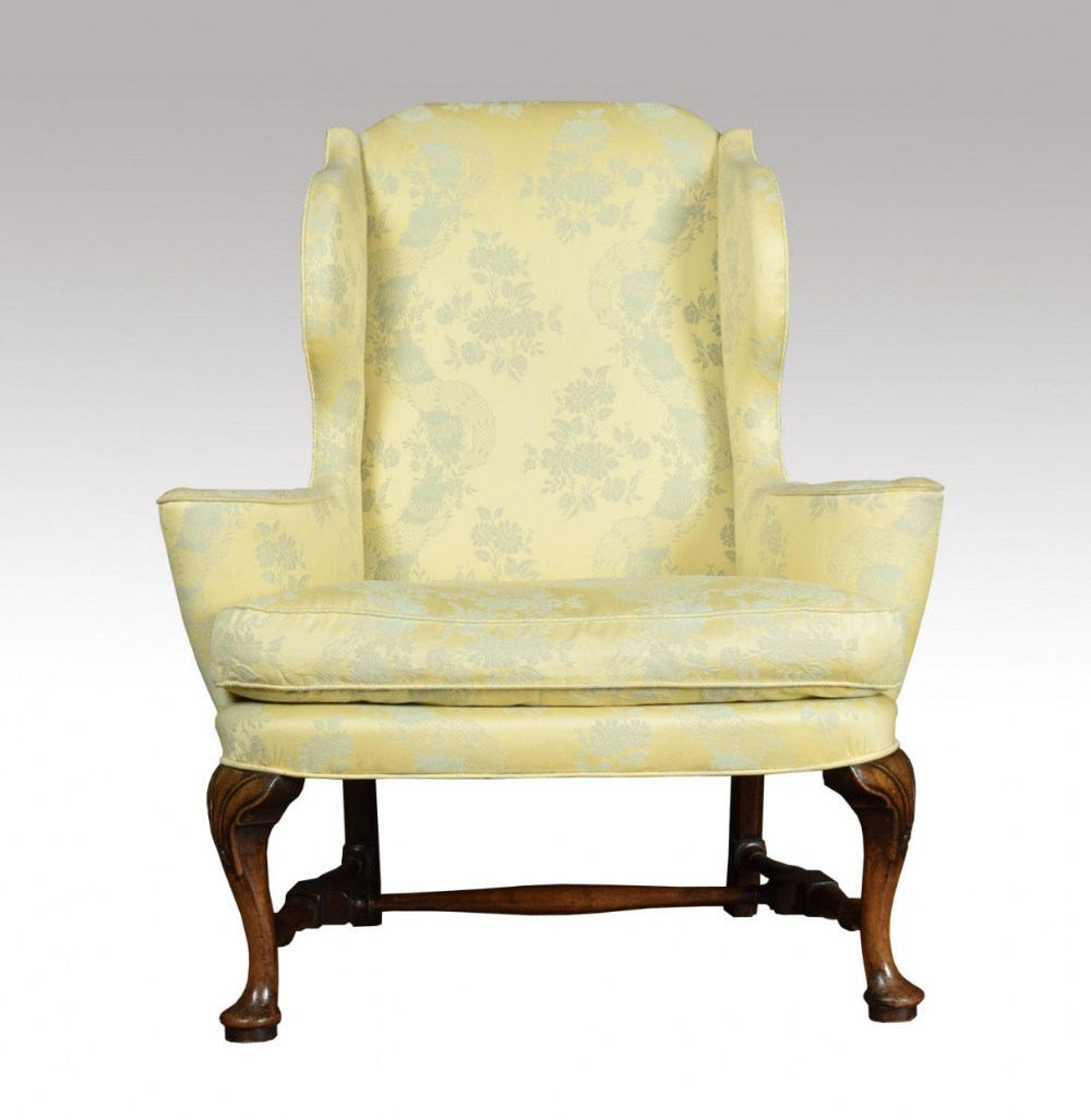 Queen Anne Style Wing Armchair | 684128 | Sellingantiques ...