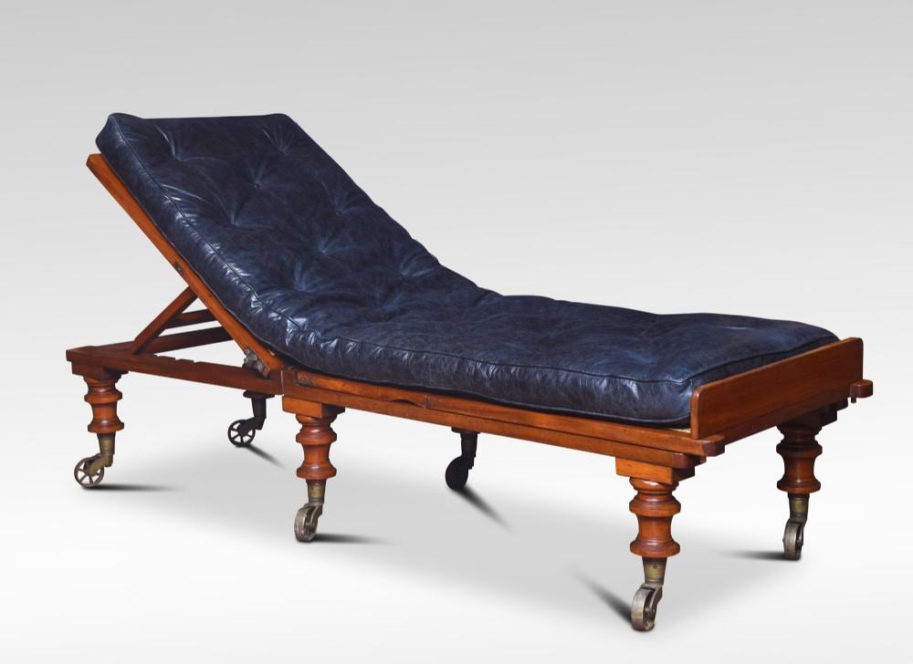 19th century mahogany adjustable day bed