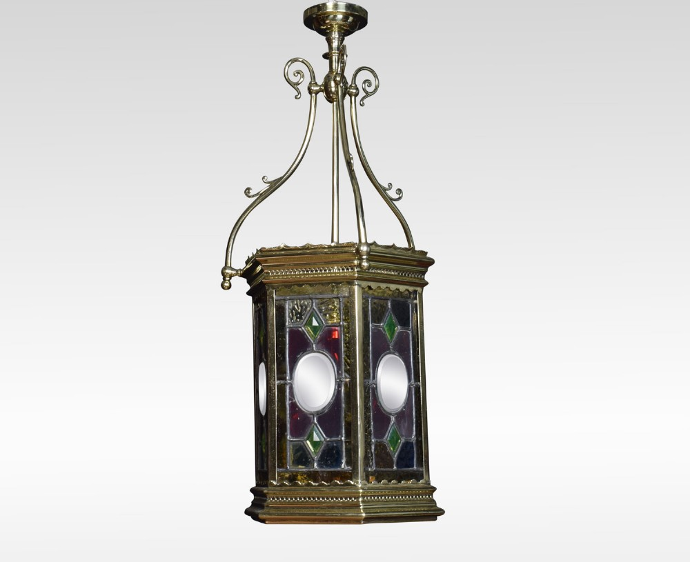 stained glass hall lantern