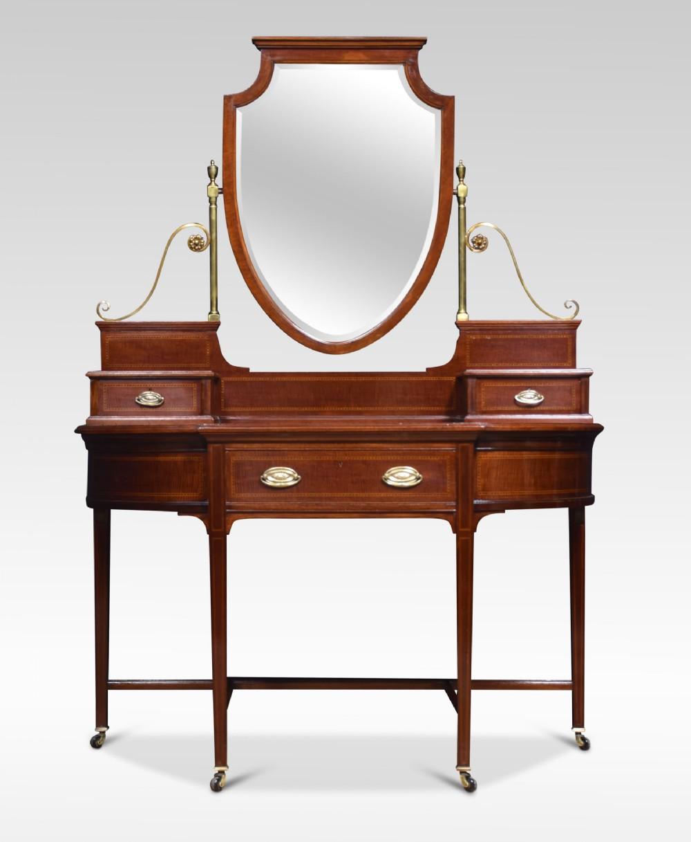 sheraton revival mahogany dressing table