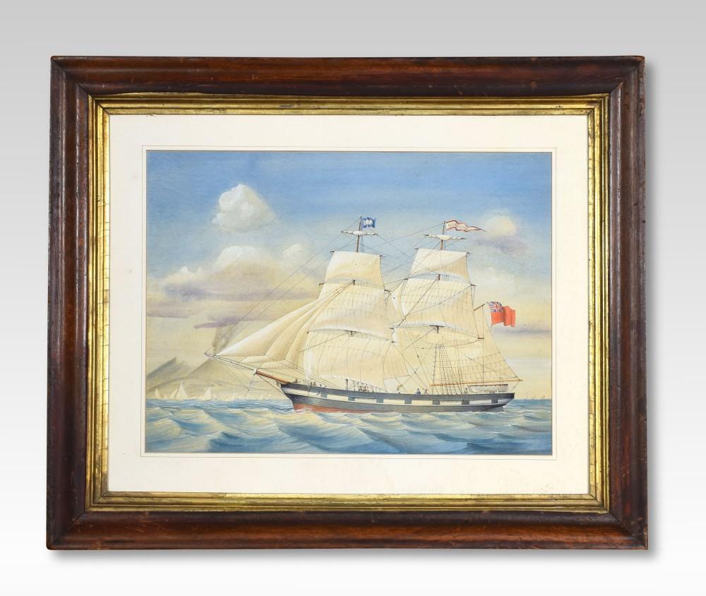 oak framed watercolour of the mary brack