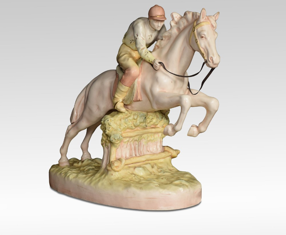 royal dux porcelain figure of a jumping race horse