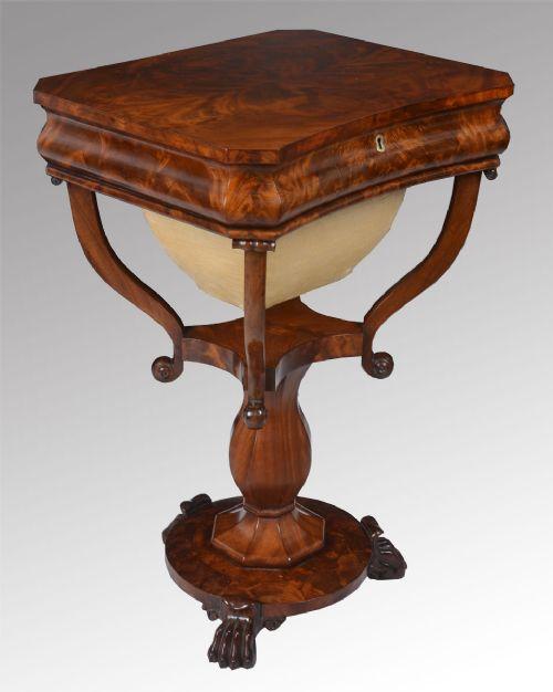 victorian mahogany sewing table 228887 sellingantiques. Black Bedroom Furniture Sets. Home Design Ideas