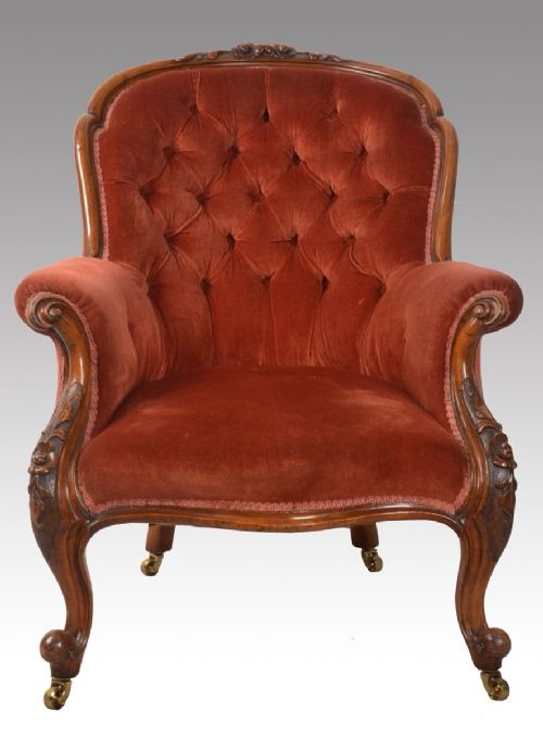 Victorian Walnut Framed Armchair 257229 Sellingantiques Co Uk