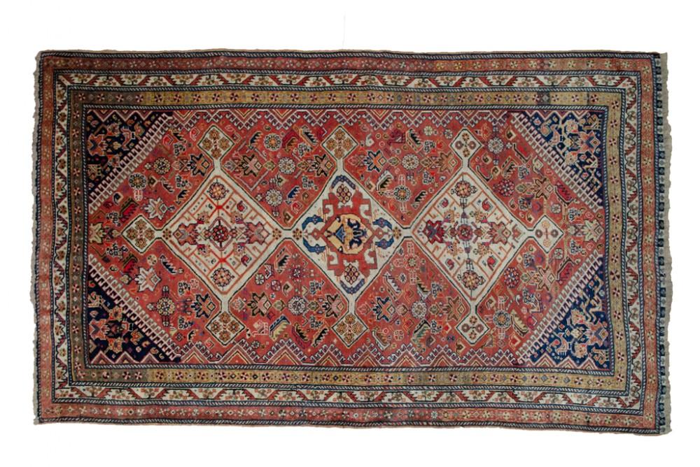 antique persian qashqai rug 214x129cm