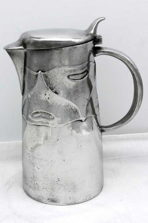 arts crafts tudric pewter hot water jug