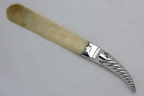 silver and ivory page turnerletter opener