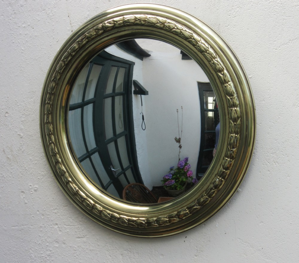Circular brass convex mirror 357248 for Convex mirror
