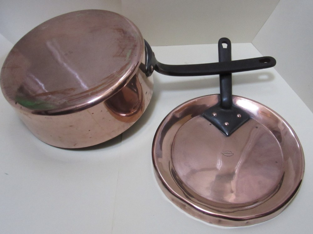 fine large copper saute pan cover south kensington