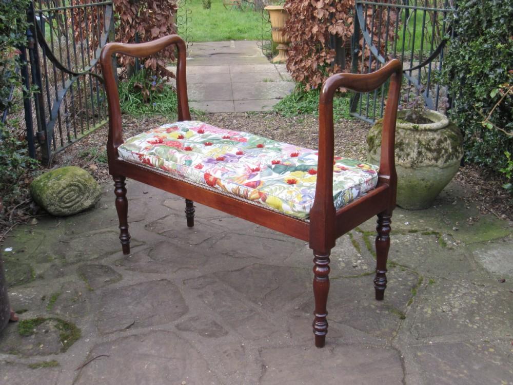 original antique mahogany window seat c1830