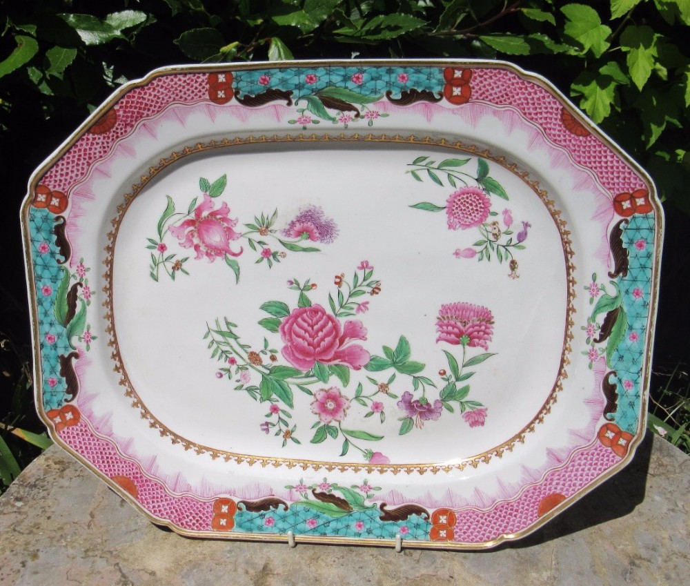 english georgian porcelain serving plate c1820