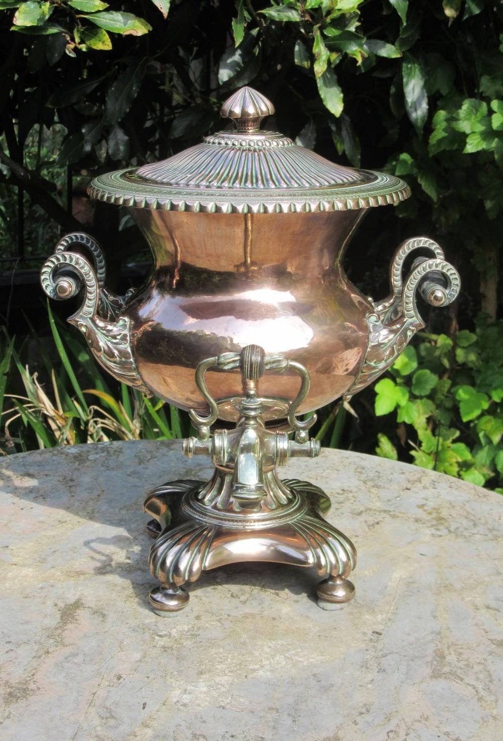 fine regency copper samovar fuller son dorking