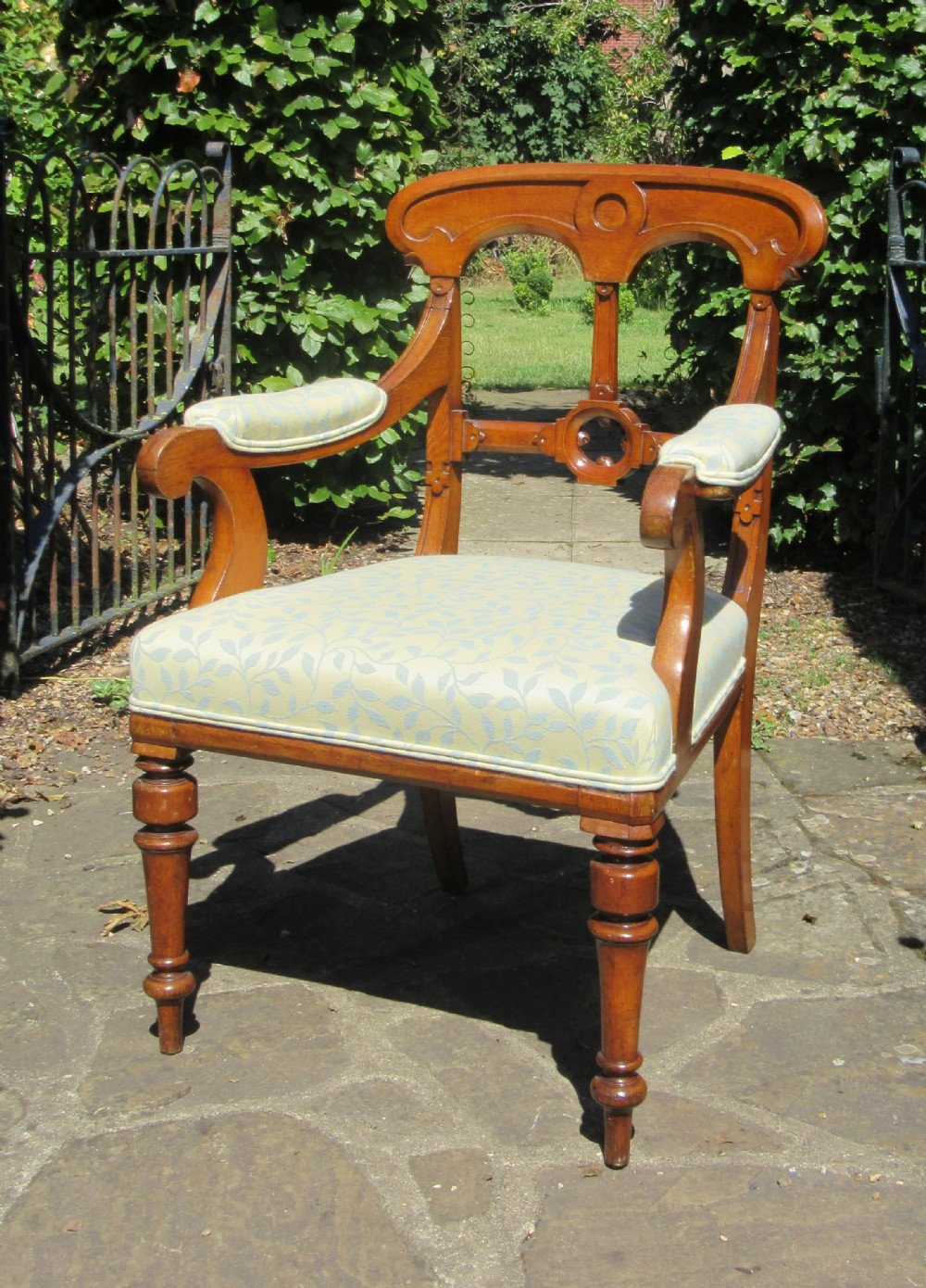 victorian oak gothic revival arm chair stamped t wright