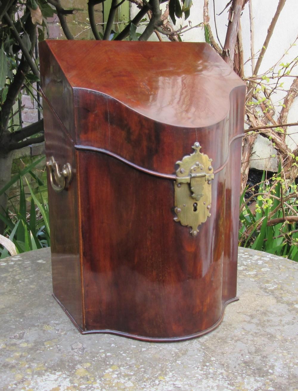 georgian mahogany knife box c1780