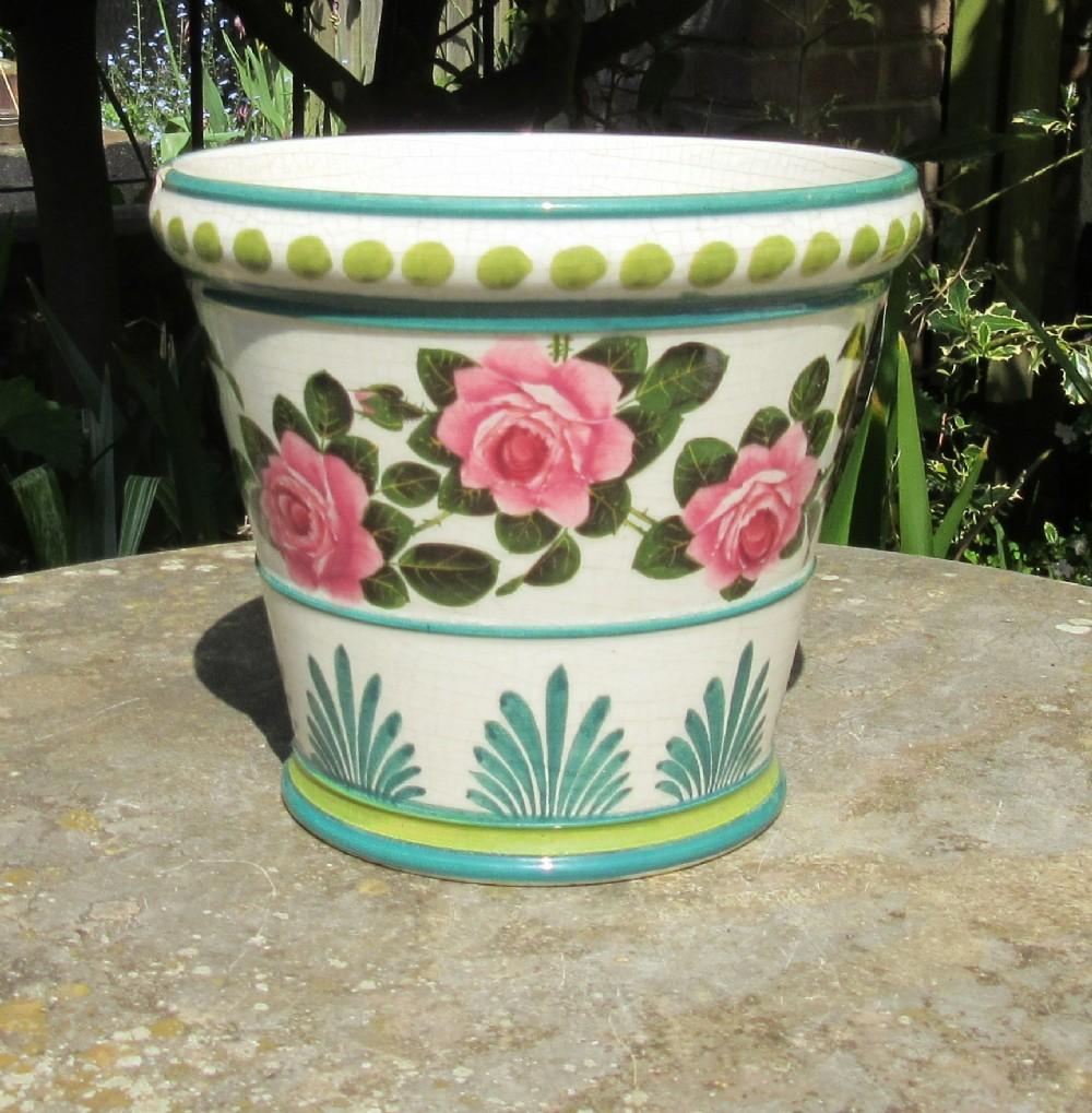 wemyss stuart cabbage roses flower pot c1910