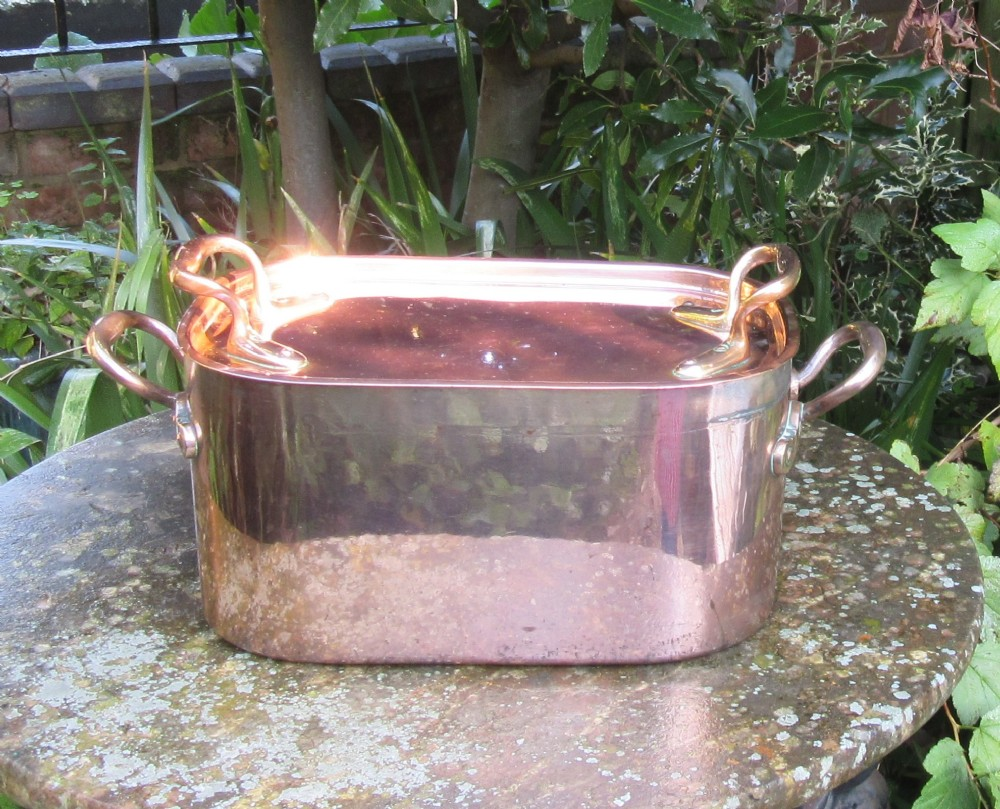 superb benham froud copper pan and cover