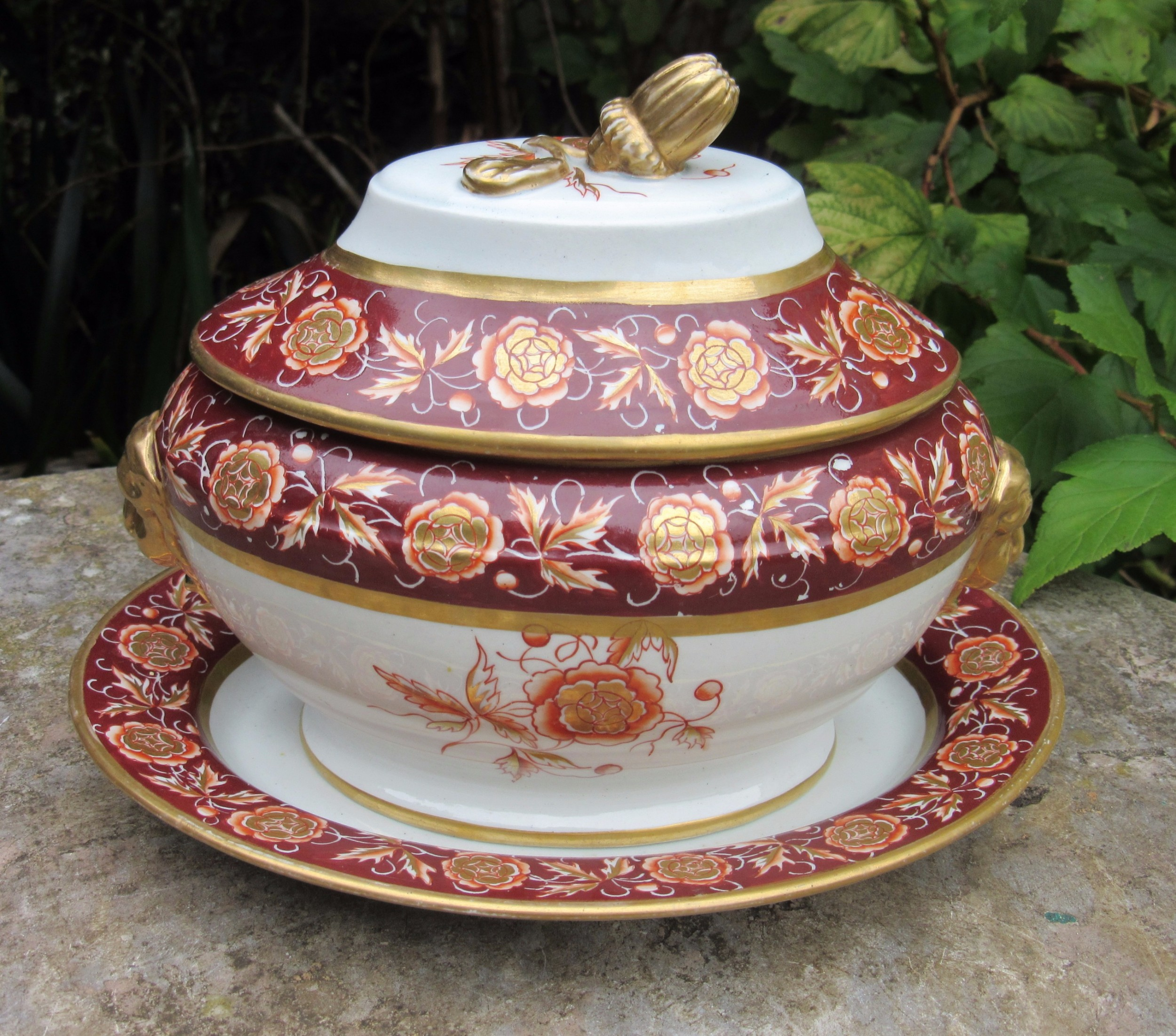 mason's patent ironstone china sauce tureen