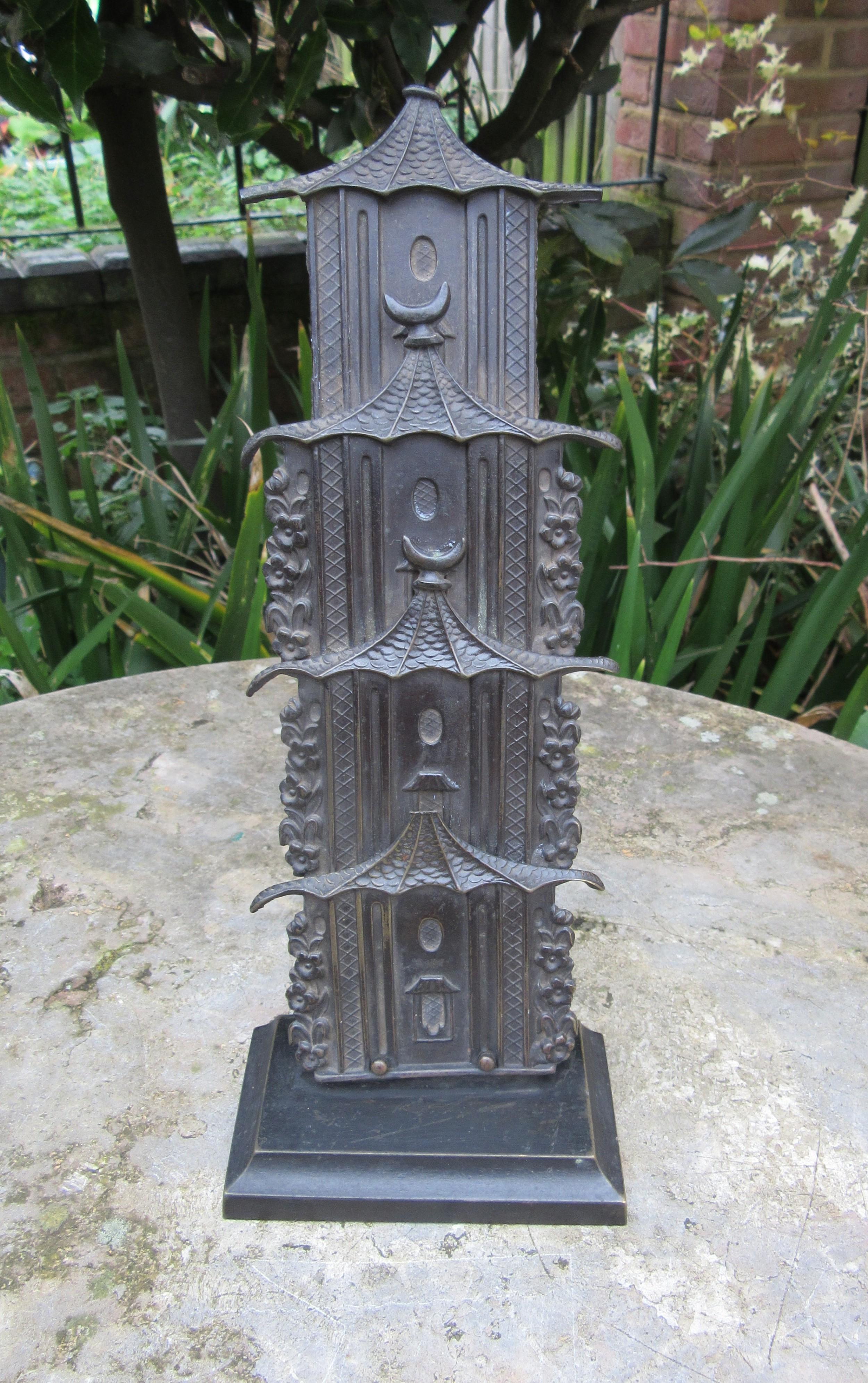 regency bronzed pagoda letter rack by w mole